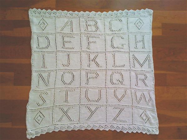 Knit Shear Bliss Debbie Bliss Alphabet Baby Blanket