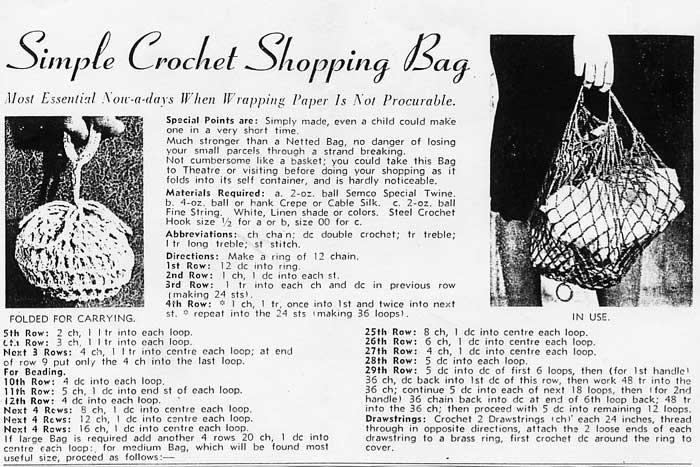 Au crochet string bag